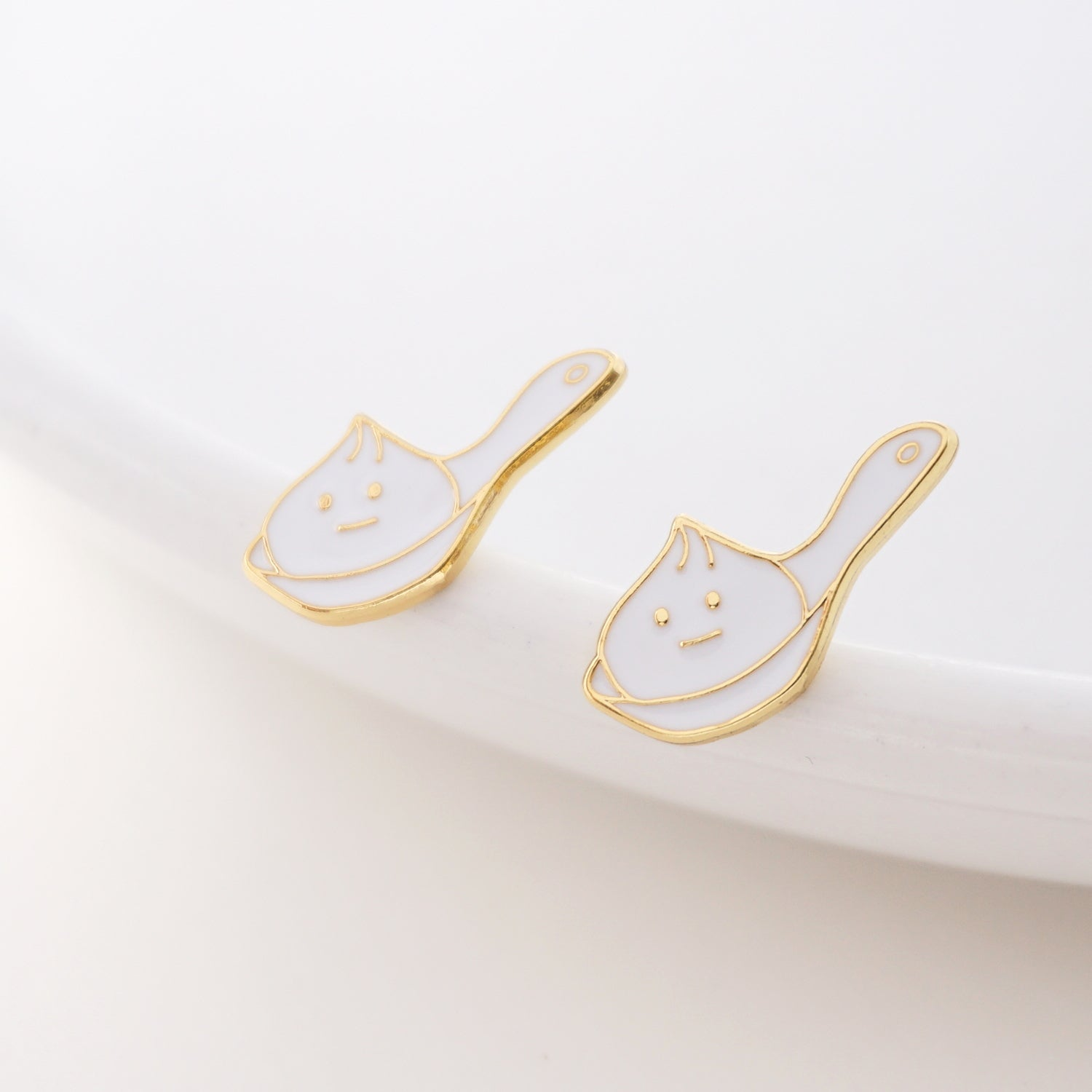 Spoon XLB Enamel Stud Earrings