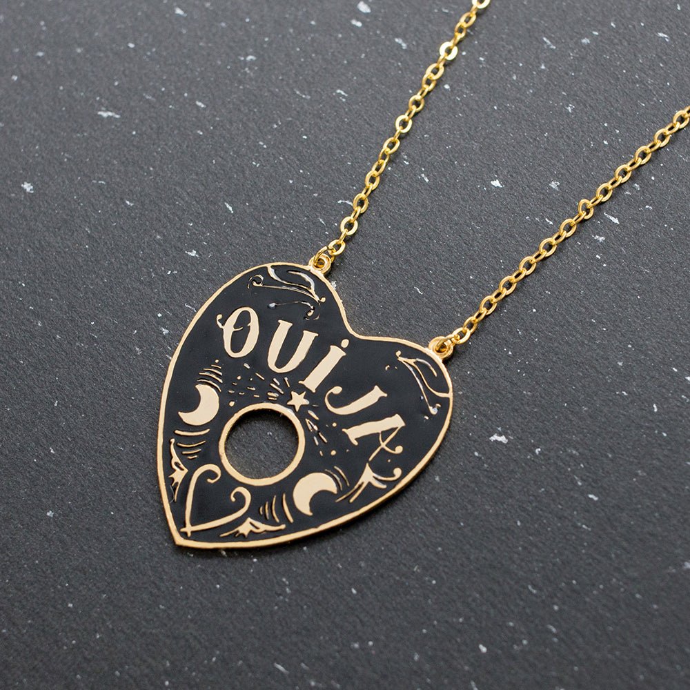Handcrafted Mysterious Ouija Enamel Long Necklace