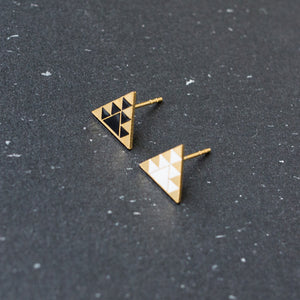 Handcrafted Mysterious Tribe Enamel Stud Earrings