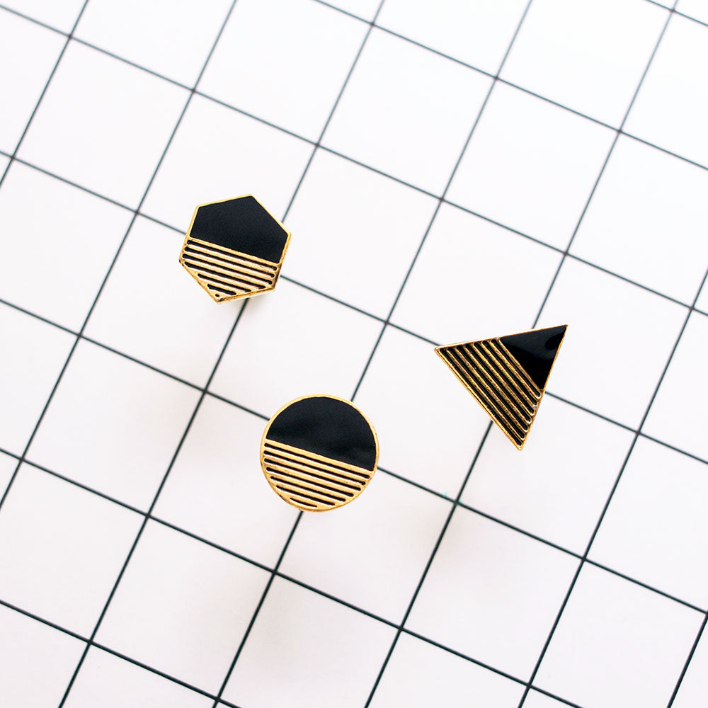 NEW! Geo Bubbles Mismatched Enamel Stud Earrings
