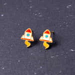Li'l Rocket Enamel Earrings/ Bracelet/ Necklace [NEW]