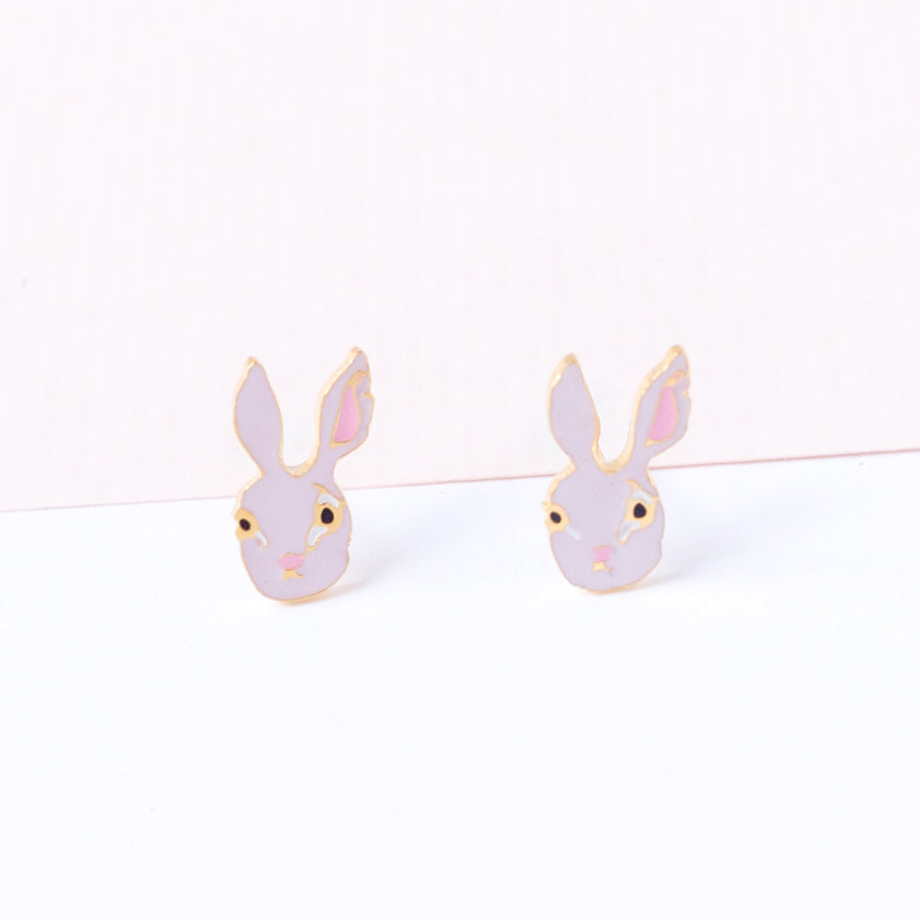 Miss Modi presents Handcrafted Assami Rabbit Stud Earrings