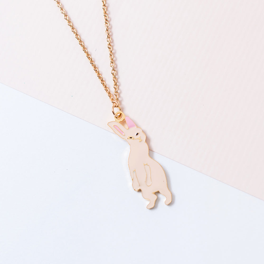 Miss Modi Handcrafted Assami Rabbit Enamel Necklace