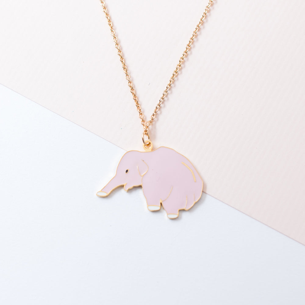 Miss Modi Handcrafted Sumatran Elephant Enamel Necklace