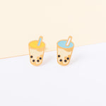 Handcrafted Bubble Tea Enamel Stud Earrings | Miss Modi