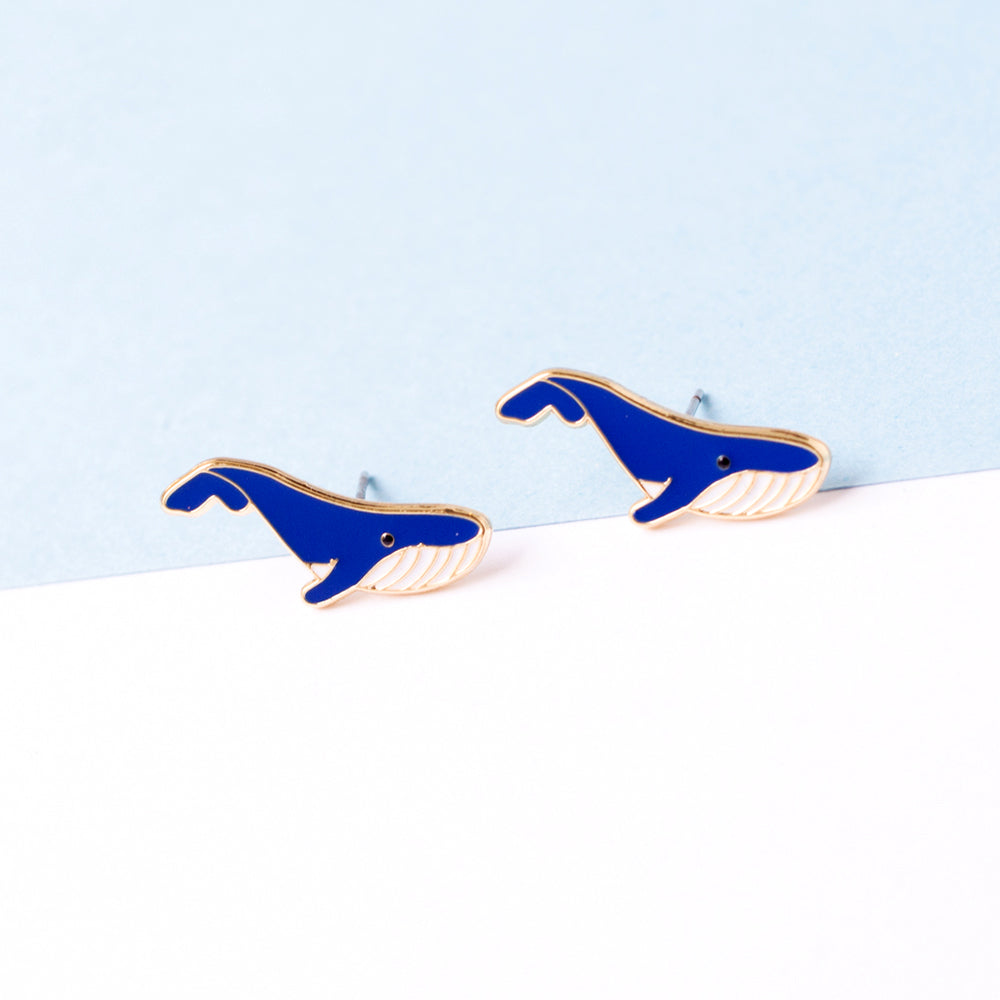 Blue Whale Enamel Earrings/ Bracelet/ Necklace