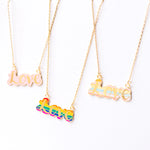 Love Enamel Necklace