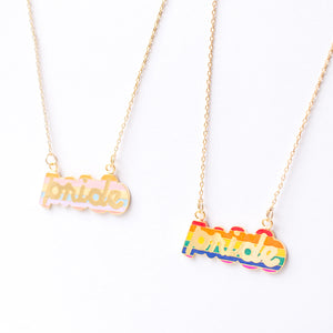 Handcrafted Pride Enamel Necklace | Miss Modi