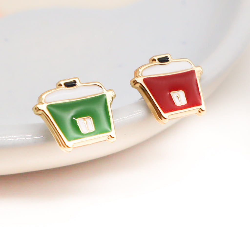 Rice Cooker Enamel Earrings/ Bracelet / Necklace