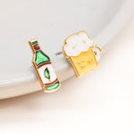 Taiwanese Beer Enamel Earrings/ Bracelet/ Necklace