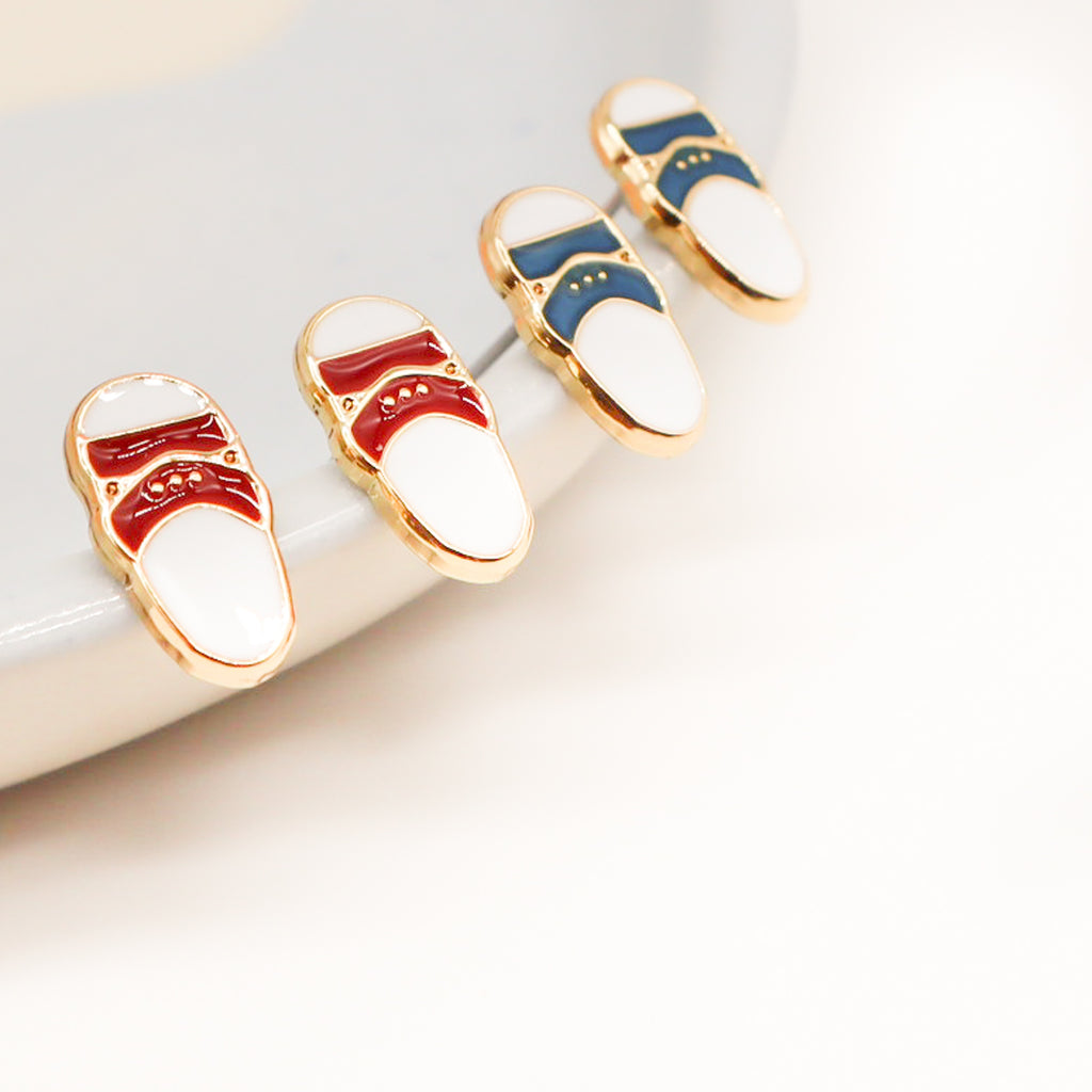 Taiwanese Slippers Enamel Earrings | Miss Modi