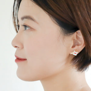 Taiwanese Chicken Cutlet ( Ji Pai) Enamel Stud Earrings