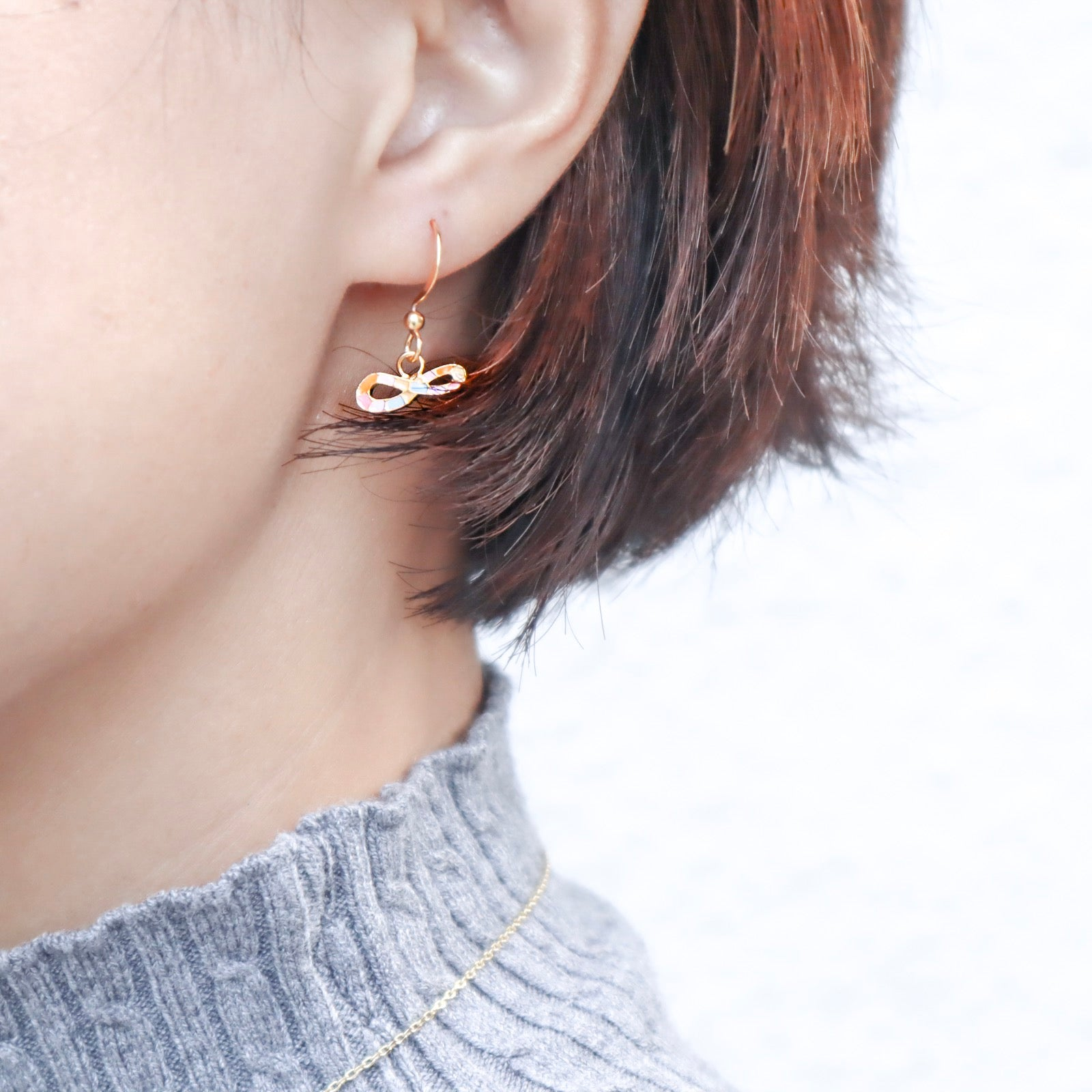 Infinite LOVE Enamel Stud Earrings