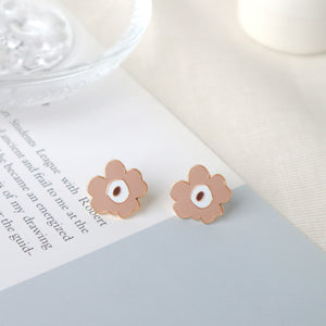 Latte Coco Poppy Enamel Stud Earrings/ Bracelet/ Necklace