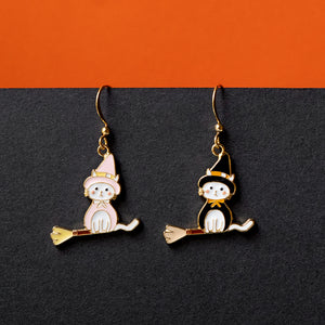 Li'l Witch Cat Enamel Earrings Bracelet Necklace | Miss Modi