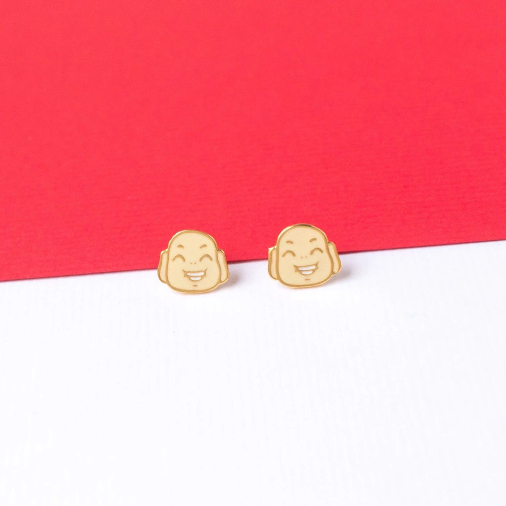 Maitreya Enamel Stud Earrings