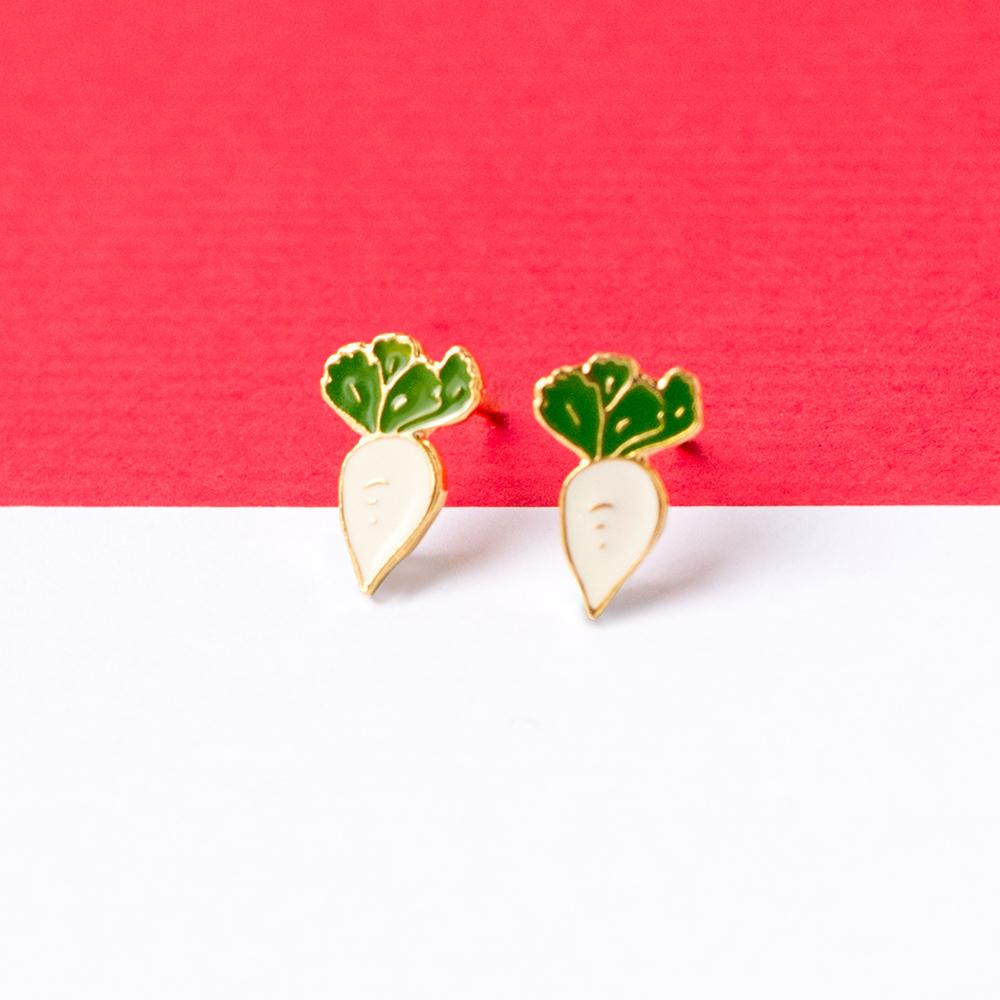 Radish Enamel Stud Earrings | Miss Modi