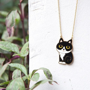 Miss Modi presents Batwoman Cat Enamel Long Necklace