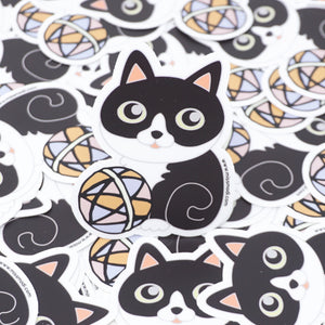 Bat Cat [Tuxedo] Die Cut Vinyl Sticker