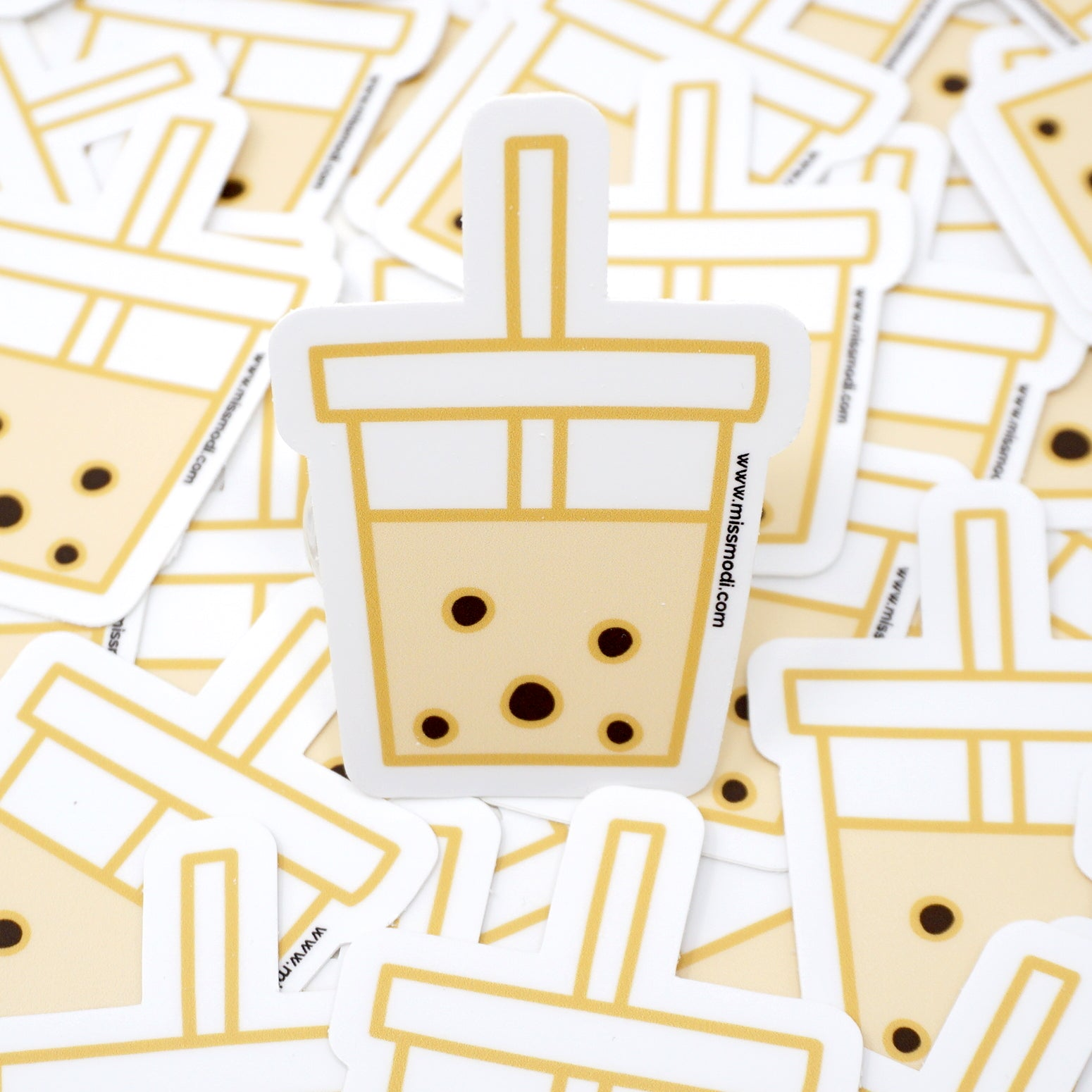 Bubble Tea Anyone? Die Cut Vinyl Sticker
