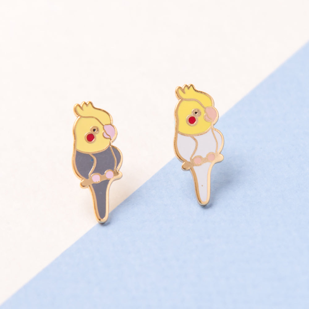 Cockatiel Enamel Earrings/ Bracelet/ Necklace