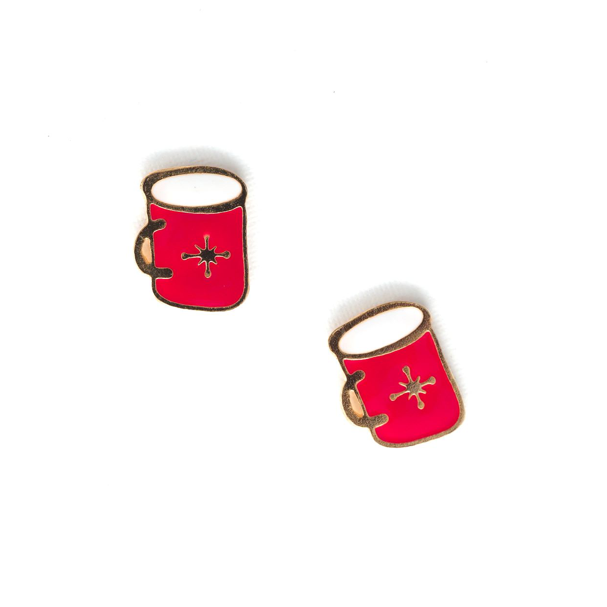 Miss Modi presents Handcrafted Hot Milk Enamel Stud Earrings