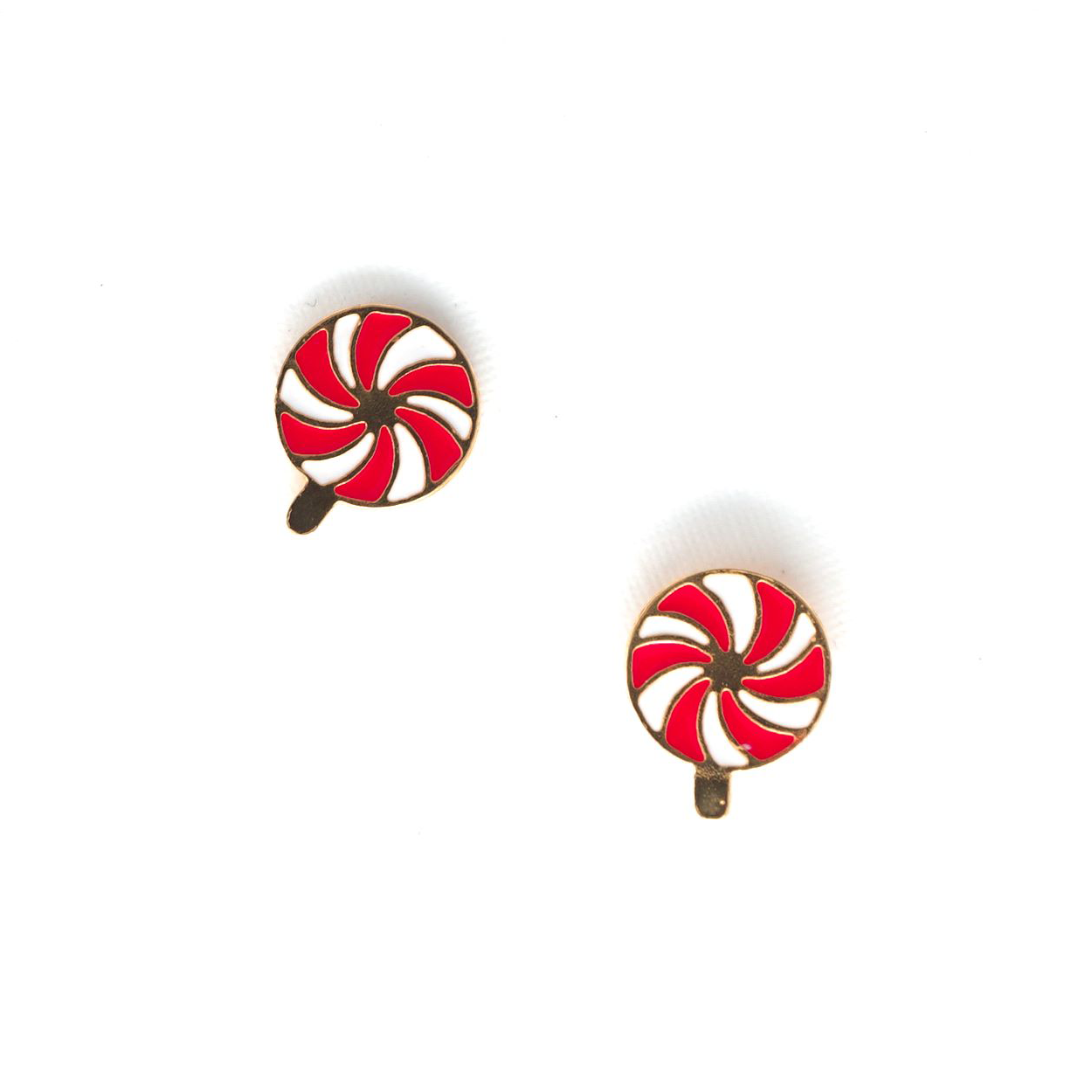 Miss Modi presents Handcrafted Peppermint Lollipop Enamel Stud Earrings
