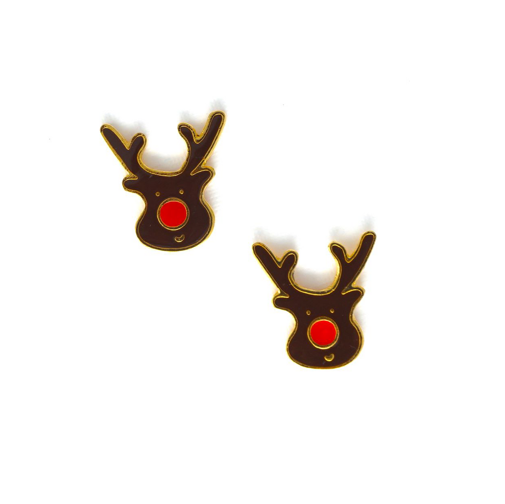 Miss Modi presents Handcrafted Reindeer Enamel Stud Earrings