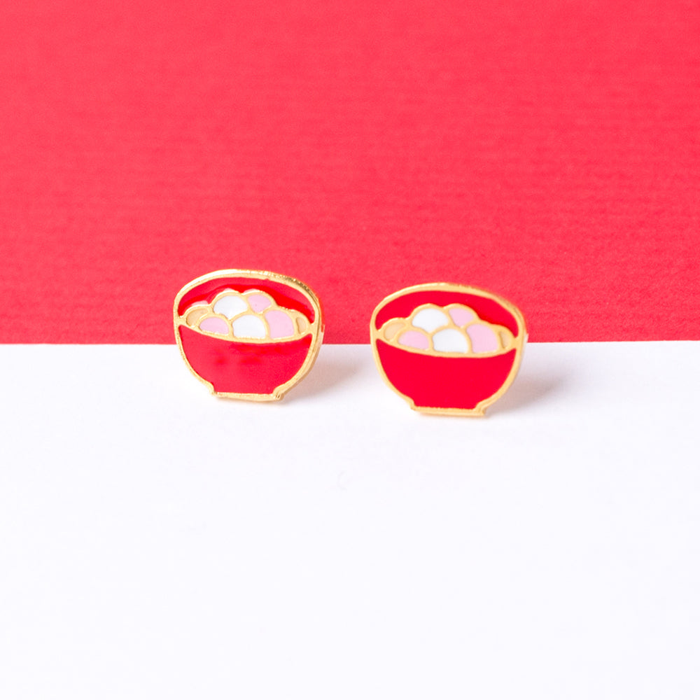 Sweet Rice Dumpling Enamel Stud Earrings