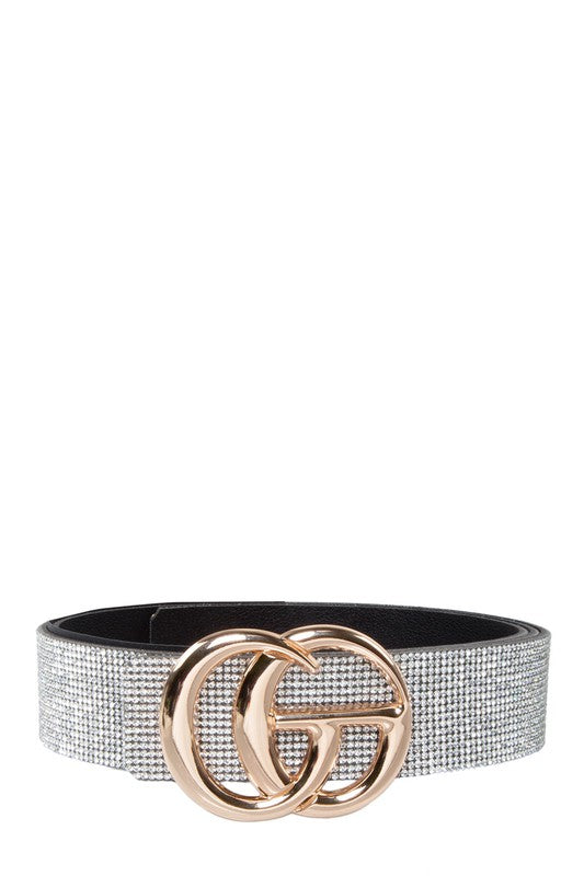 GO Buckle with Full Rhinestone Belt
