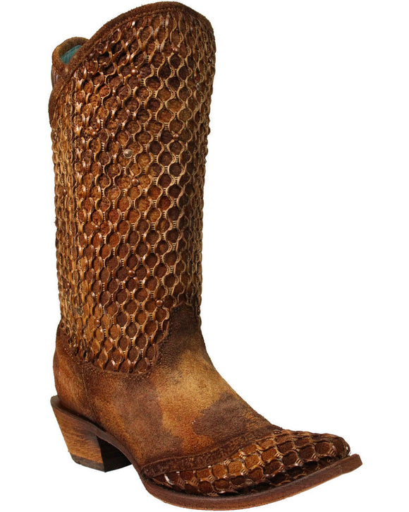 Corral Boots Camel Net Overlay C3182