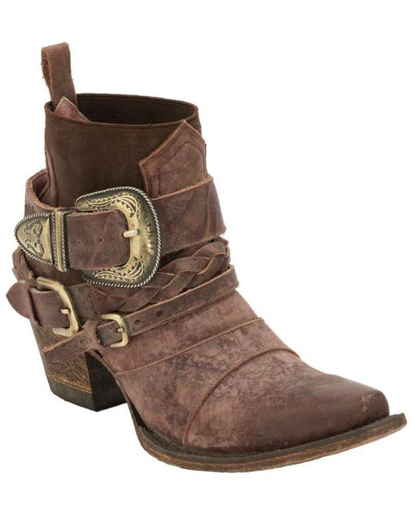 Junk Gypsy by Lane Women's HWY 237 Distressed Booties - Snip Toe