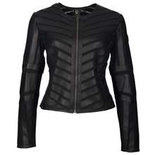 """Tiya"" Leather Moto Jacket"