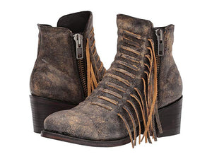Side Fringe Ankle Booties From Corral Boots