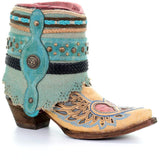 Corral Boots Wing and Heart Jute Rug Ankle Boot A3462