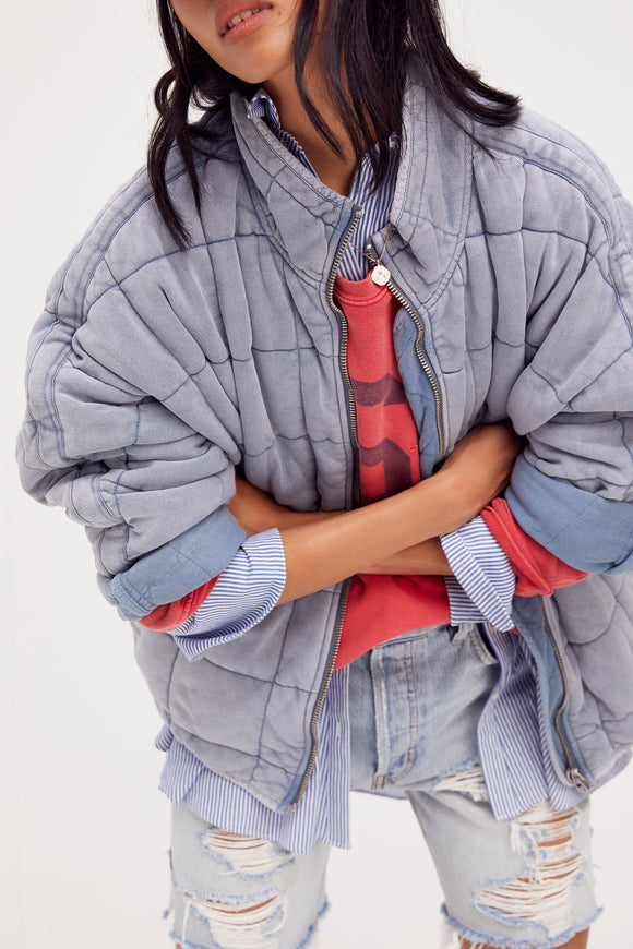 DOLMAN QUILTED KNIT JKT