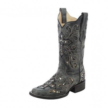 Corral Sequin Cross Boots  A3128
