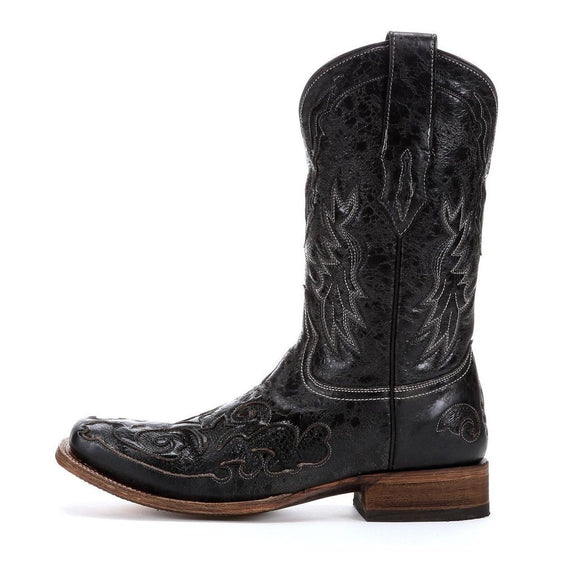 Men's Black Goat and Snake Skin From Corral Boots