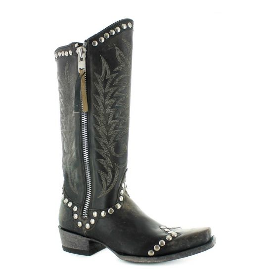 Old Gringo Women's Rockrazz Black Leather Boots L598-2
