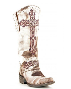 Old Gringo Krusts Boots White L1295-4