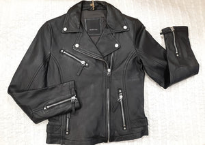 """Pasja"" Leather Moto Jacket Black in Color"