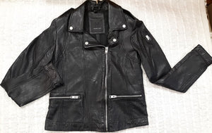 """Freepy"" Leather Jacket Black"