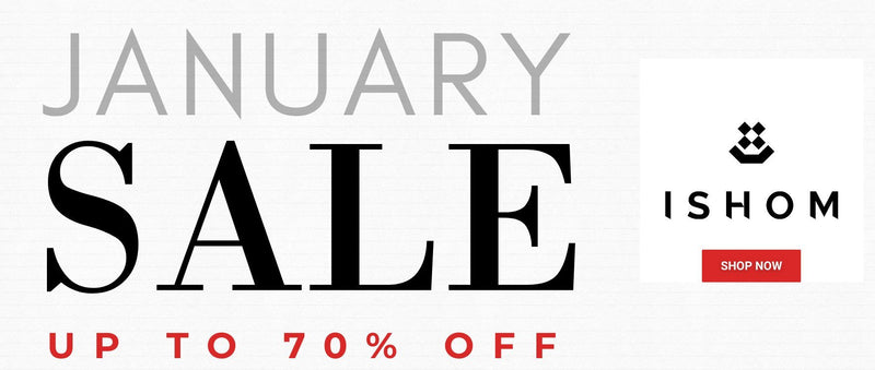 January sale | ishom | up to 70% off