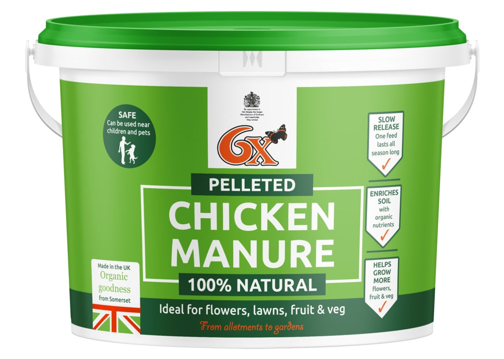 Vitax-6x Odourless Pelleted Chicken Fertiliser