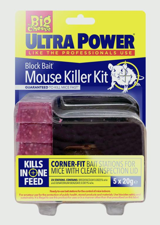 The Big Cheese-Ultra Power Block Bait² Mouse Killer Station Refills