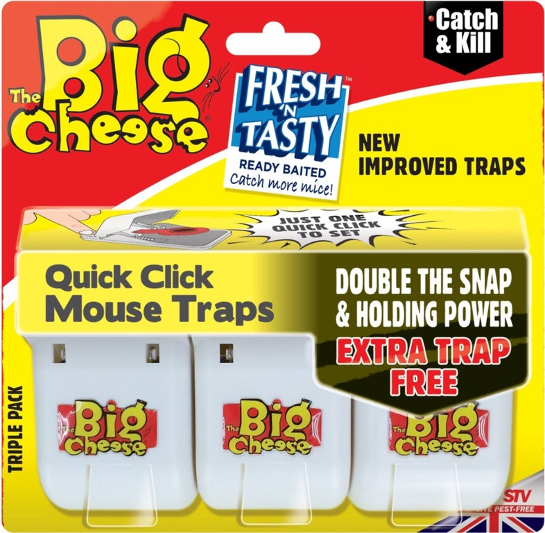 The Big Cheese-Quick Click Mouse Traps