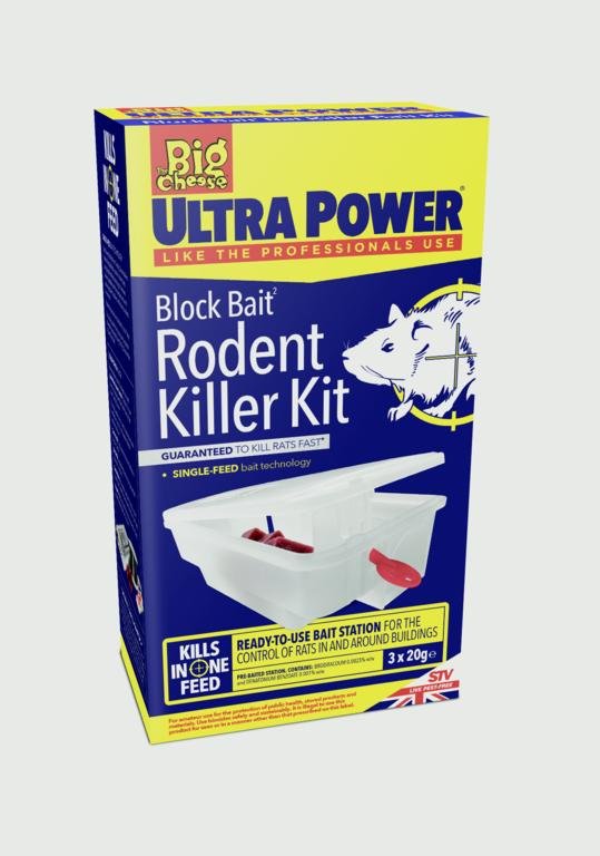 The Big Cheese-Ultra Power Block Bait Rodent Killer Kit