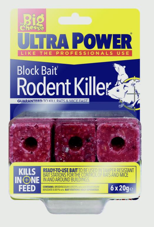 The Big Cheese-Ultra Power Block Bait Rat Killer² Station Refills