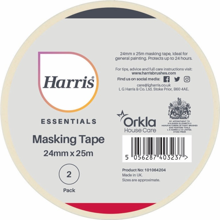 Harris-Essentials Masking Tape Pack 2 - iShom
