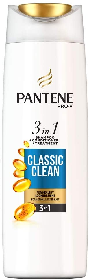 3 x Pantene Pro-V Classic Clean 3-in-1 Shampoo Plus Conditioner, for Normal to Mixed Hair | Ishom